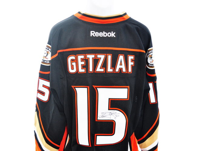 on sale ea035 f9d92 Ryan Getzlaf Autographed Anaheim Ducks Jersey - Capitals ...