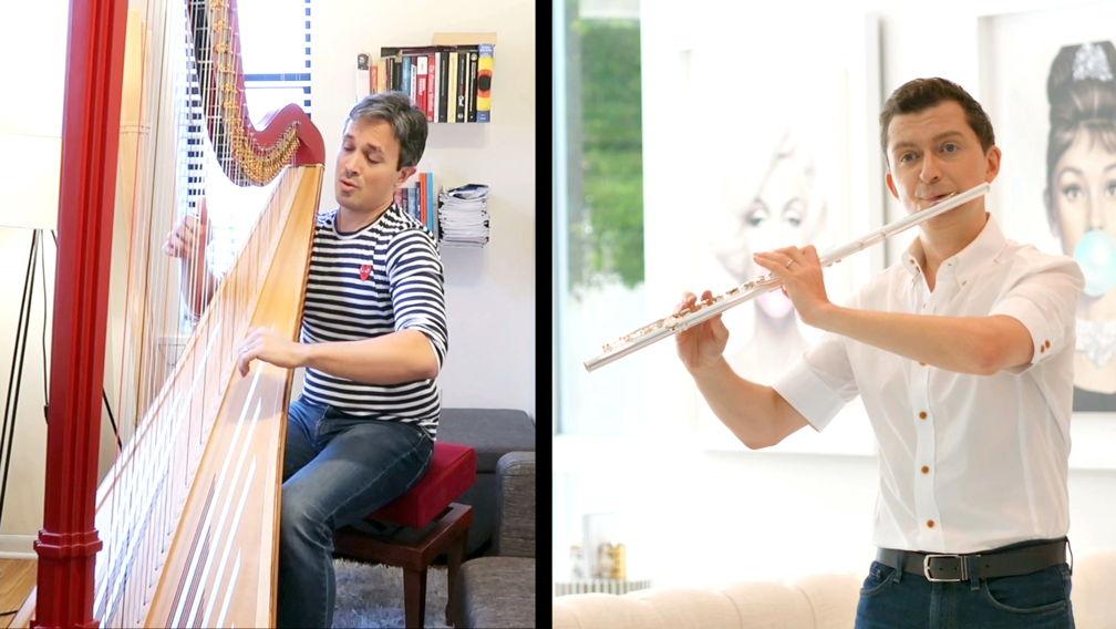 LA Phil Principal Flute performing at home