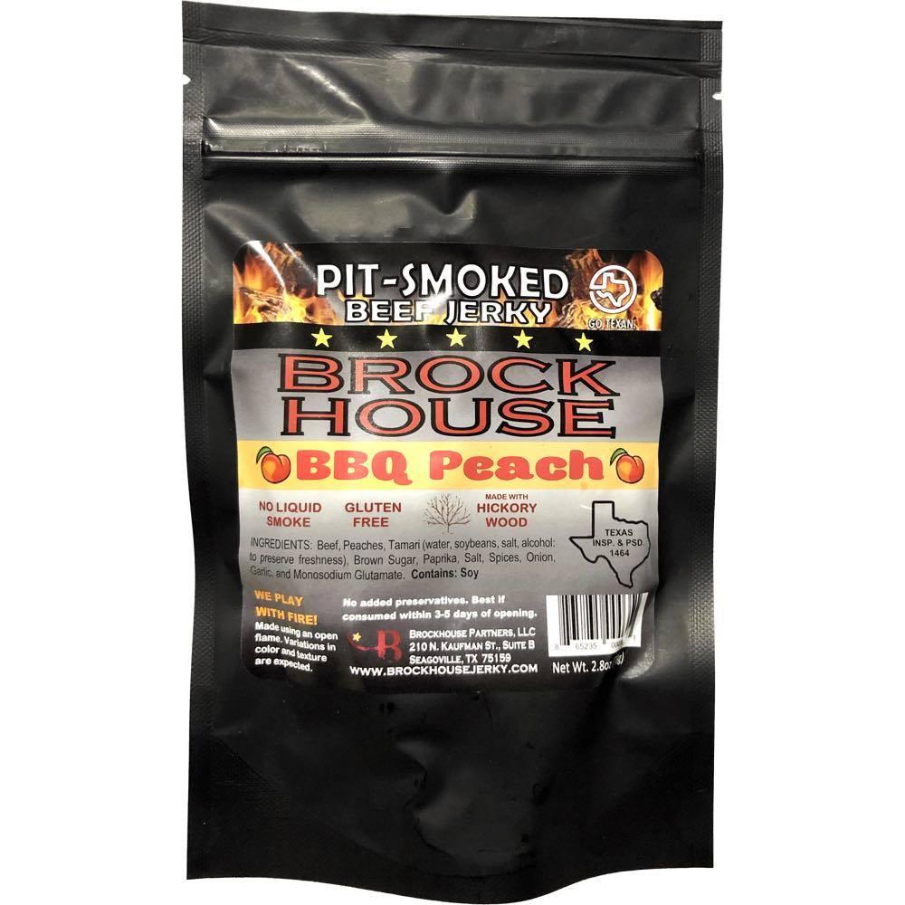 Brockhouse pit-smoked BBQ Peach Beef Jerky
