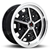 klassik rader rally black machined wheel