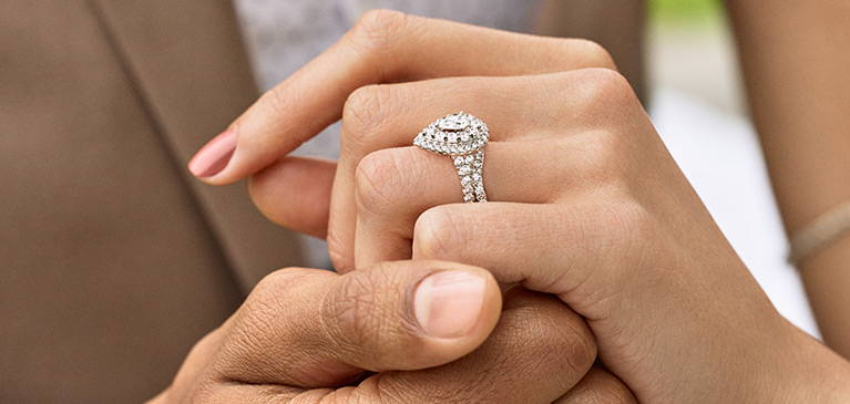 Best Non-Diamond Engagement ring, closest to Diamonds