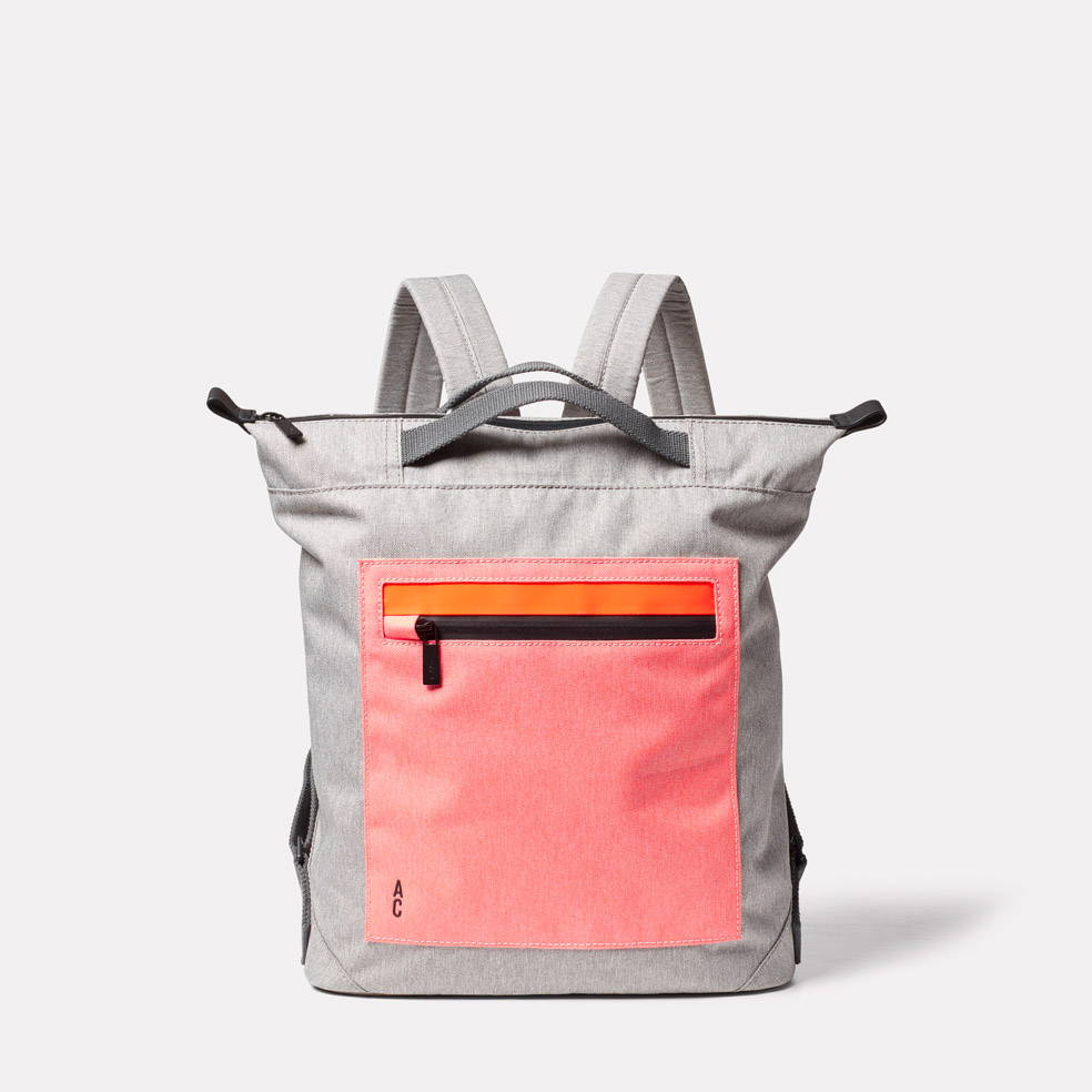 Hoy Travel and Cycle Backpack in Grey/Orange