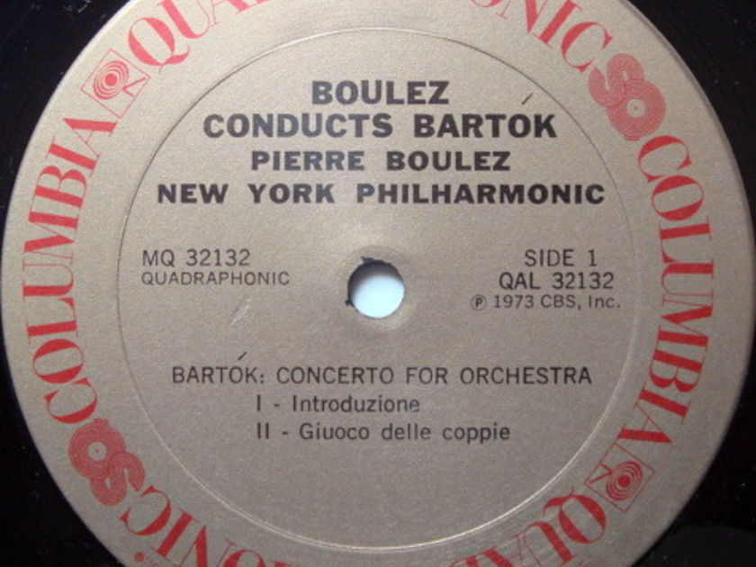 ★Audiophile★ Columbia Quadraphonic / BOULEZ,  - Bartok Concerto for Orchestra, NM!