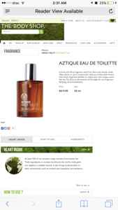 Aztique body shop EDT