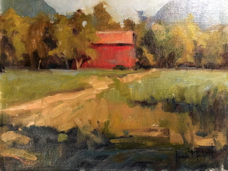 """JT's Red Barn"" by Artist Pamela Padgett"