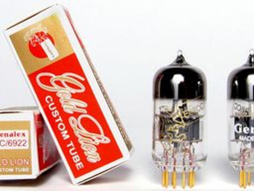 Genalex Gold Lion ECC88/6922 tubes, brand new reissues !