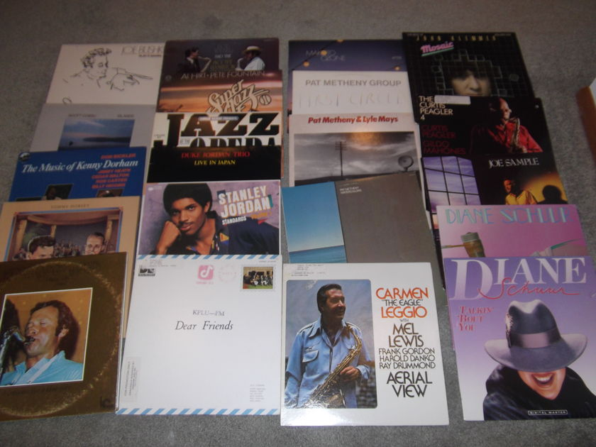 66 Misc. Jazz LPs - Approx. 58 Titles  Duke Jordan Getz/Duke/Basie/Others