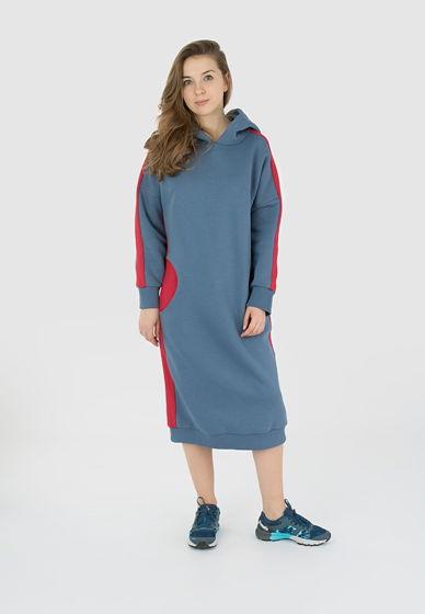Утепленное платье с капюшоном