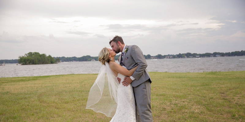 Soft pink and navy rustic wedding with fun personal twists
