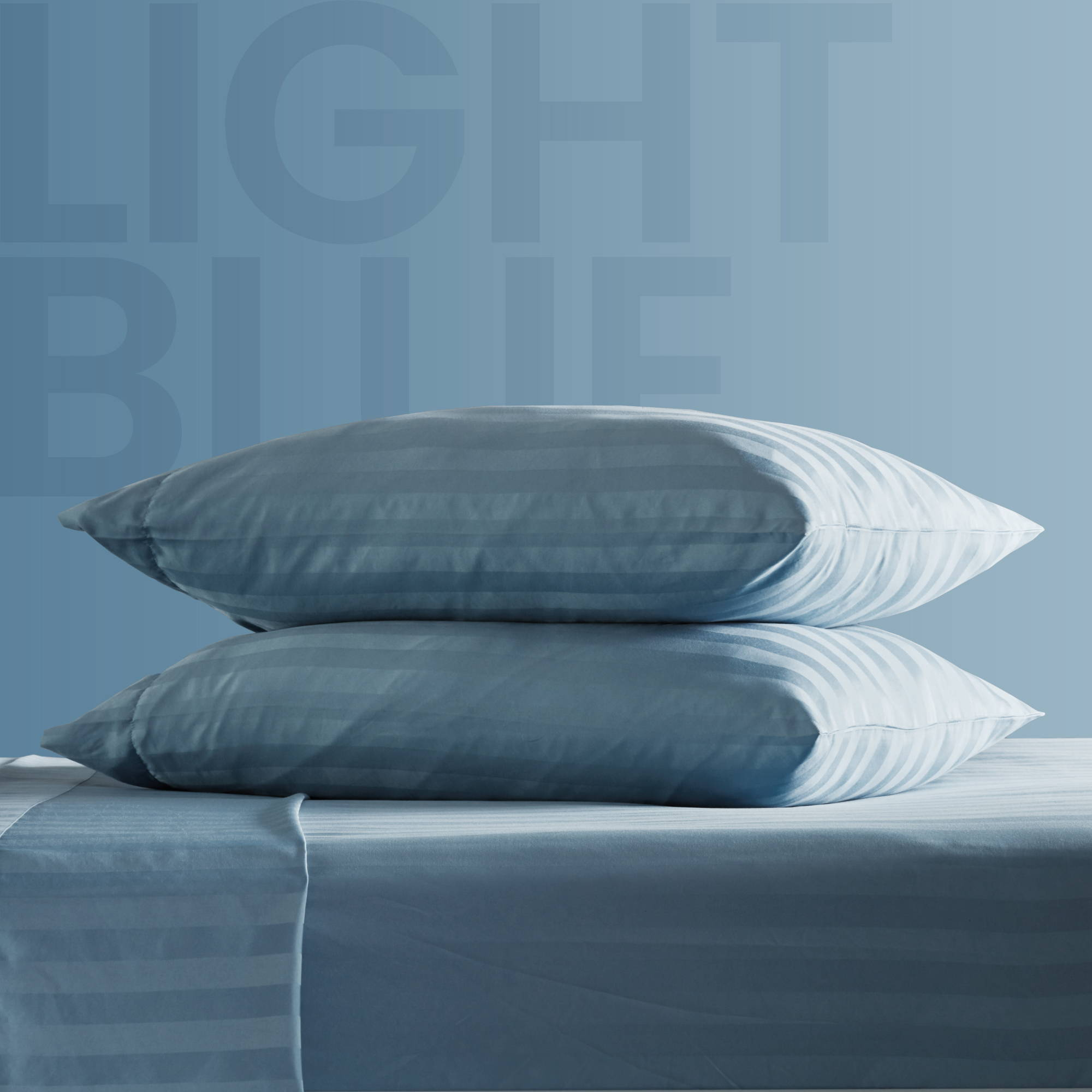 sleep zone bedding website store products collections cooling striped sheet set light blue