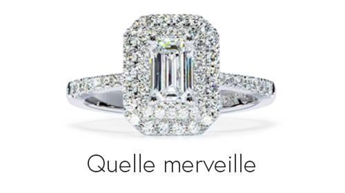 Bague de fiançailles Quelle merveille de Flamme en rose avec des diamants synthétiques