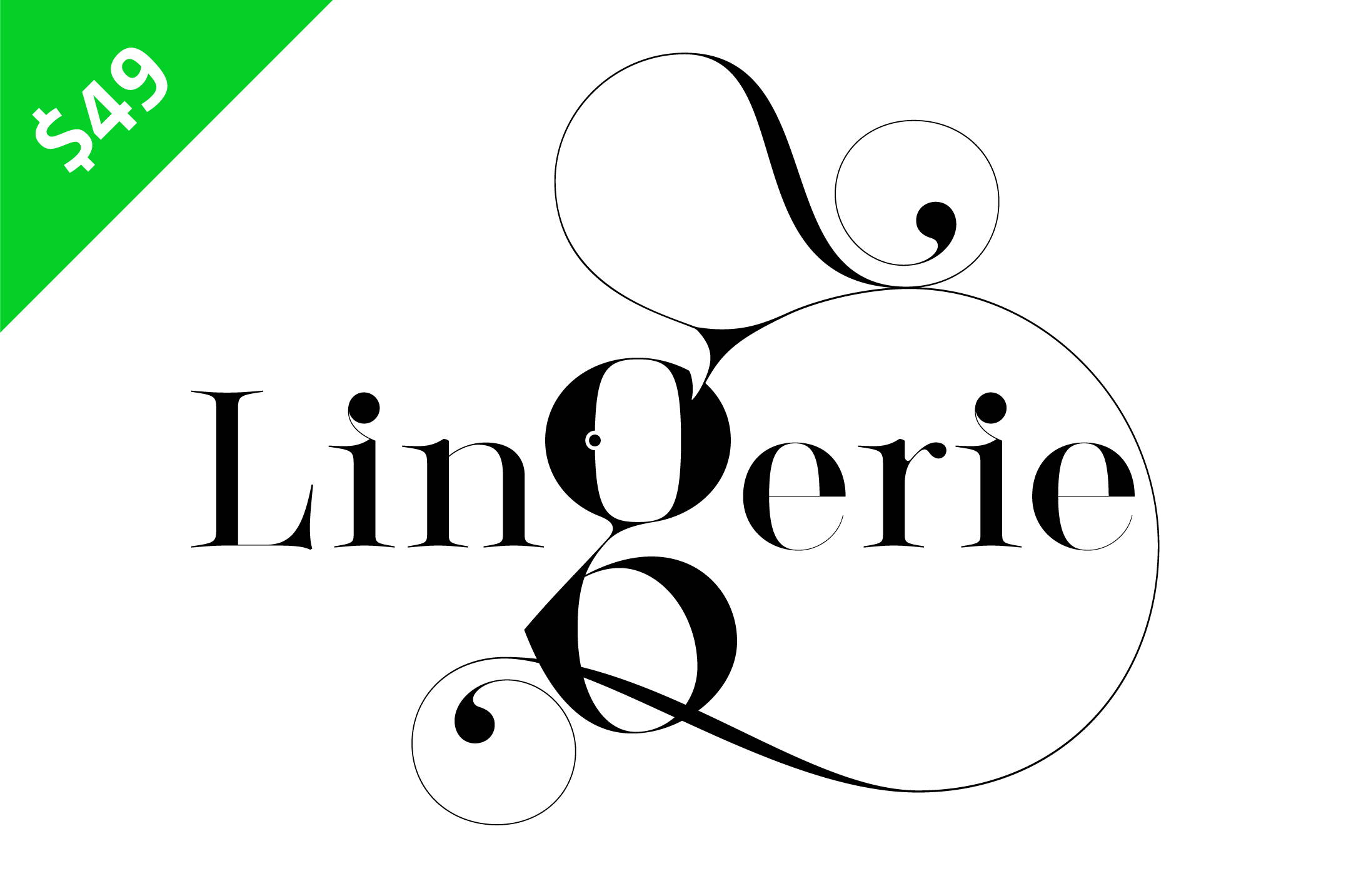 Lingerie Typeface - The most advanced typeface for Fashion and Luxury