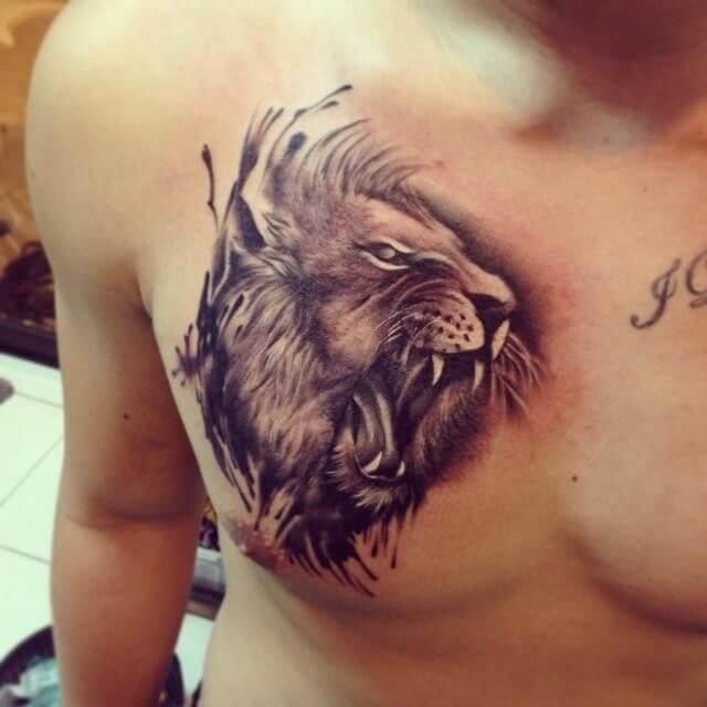 Tatouage Rugissement de lion