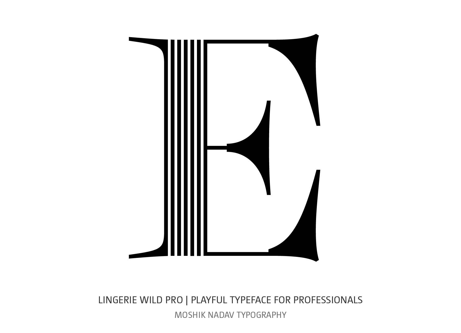 Fashion magazine font - Lingerie Wild Pro Typeface by Moshik Nadav Typography