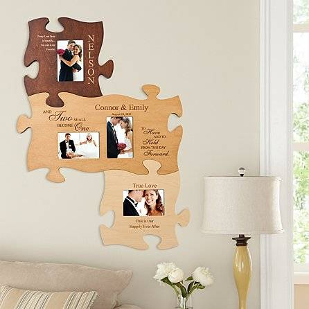 It's not too difficult to figure out an exclusive gift from the heart on a special occasion. Turn meaningful moments in your wedding into a personalized photo puzzle and your partner can enjoy these happy memories every day. With the elegant color of wood, this high-quality custom puzzle is also a felicitous idea for your home decoration.