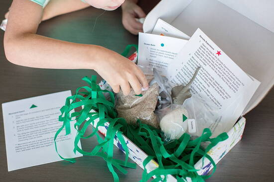 Messy play kit subscription contents