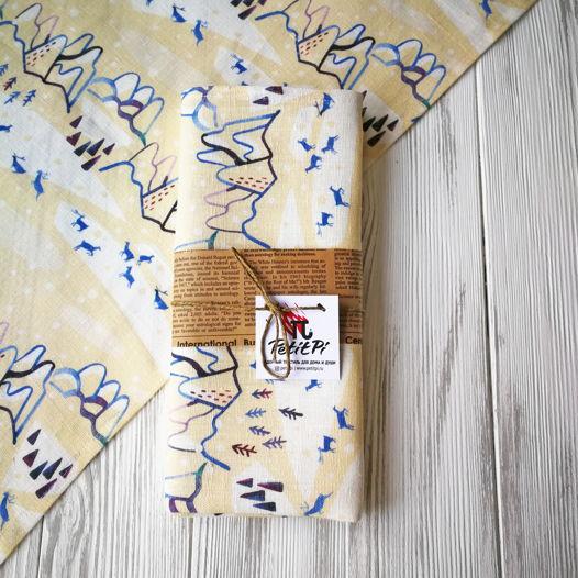 Льняное полотенце ОЛЕНИ В ГОРАХ