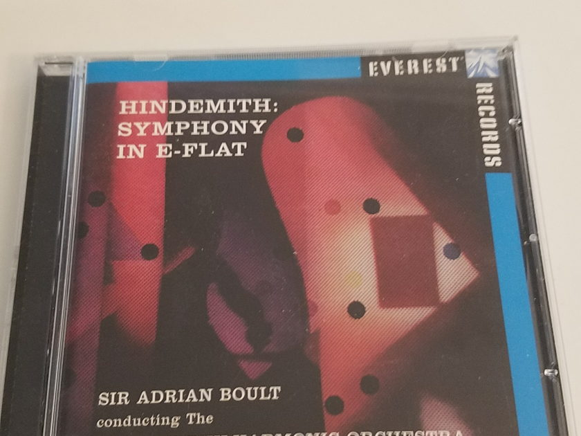 Everest Sir Adrian Boult - Hindesmith Symphony in E Flat CD