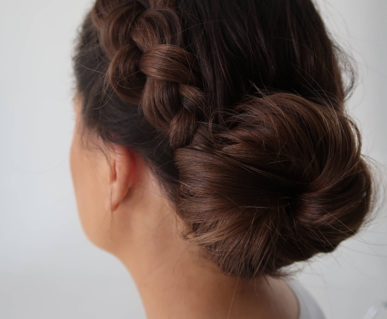 Medium length hair chignon Davines