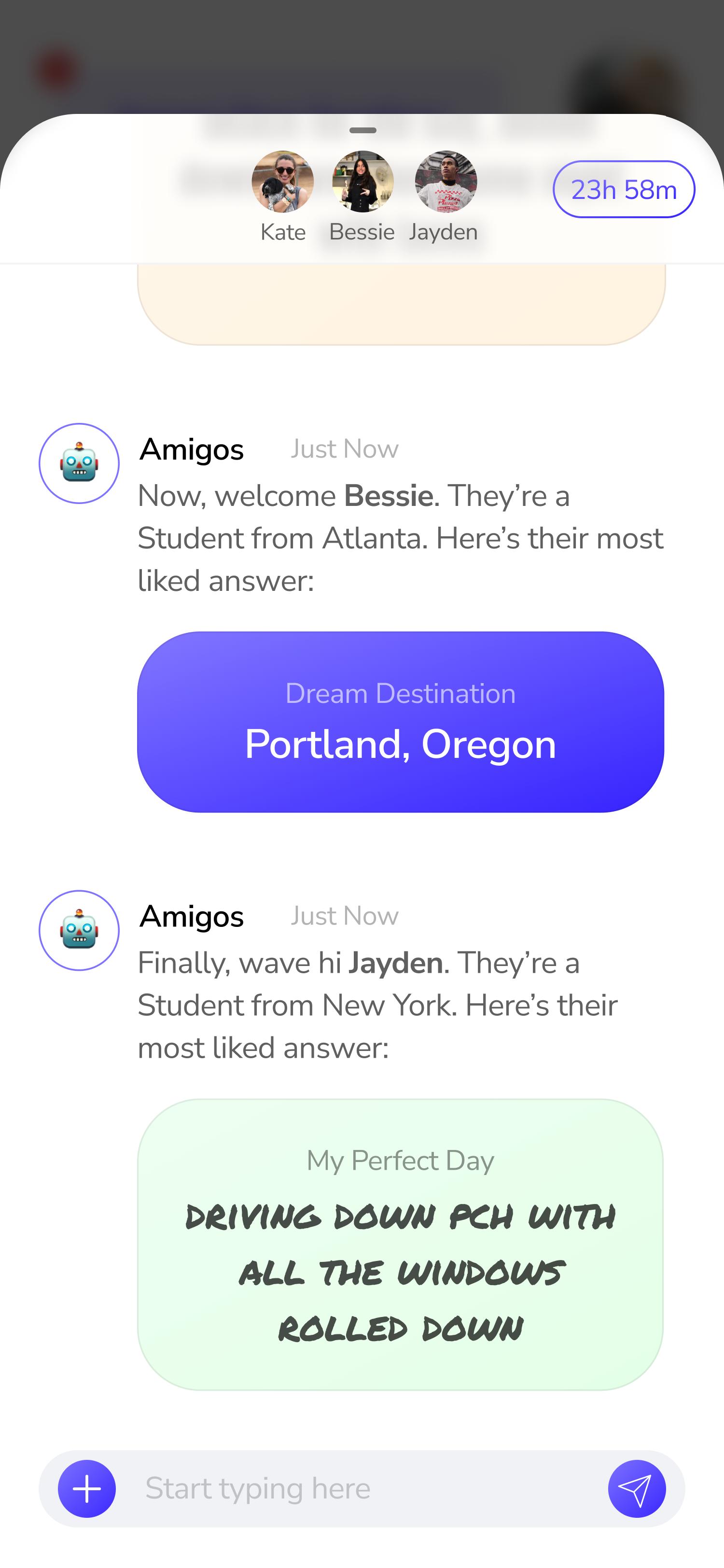 Message screen 1 option 6