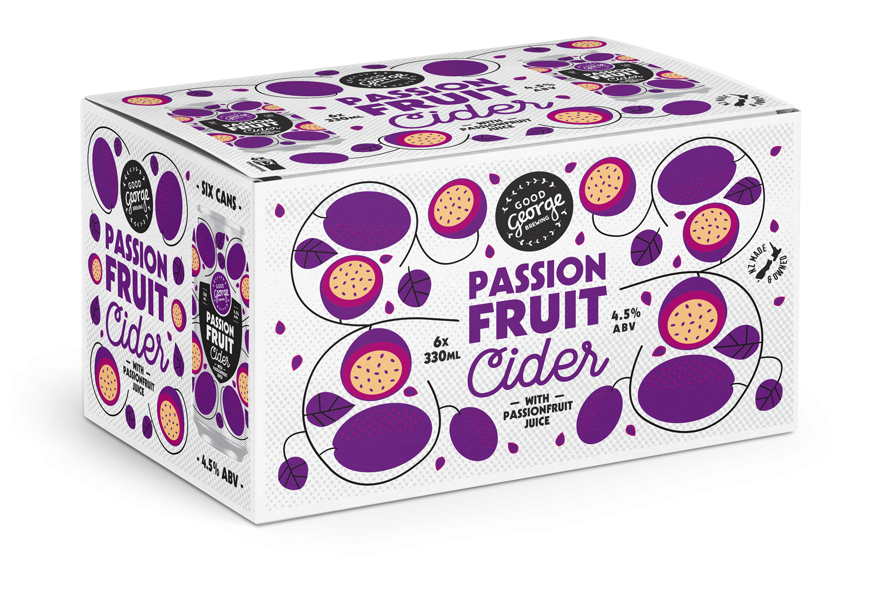 Good George Passionfruit Cider 6 Pack Cans