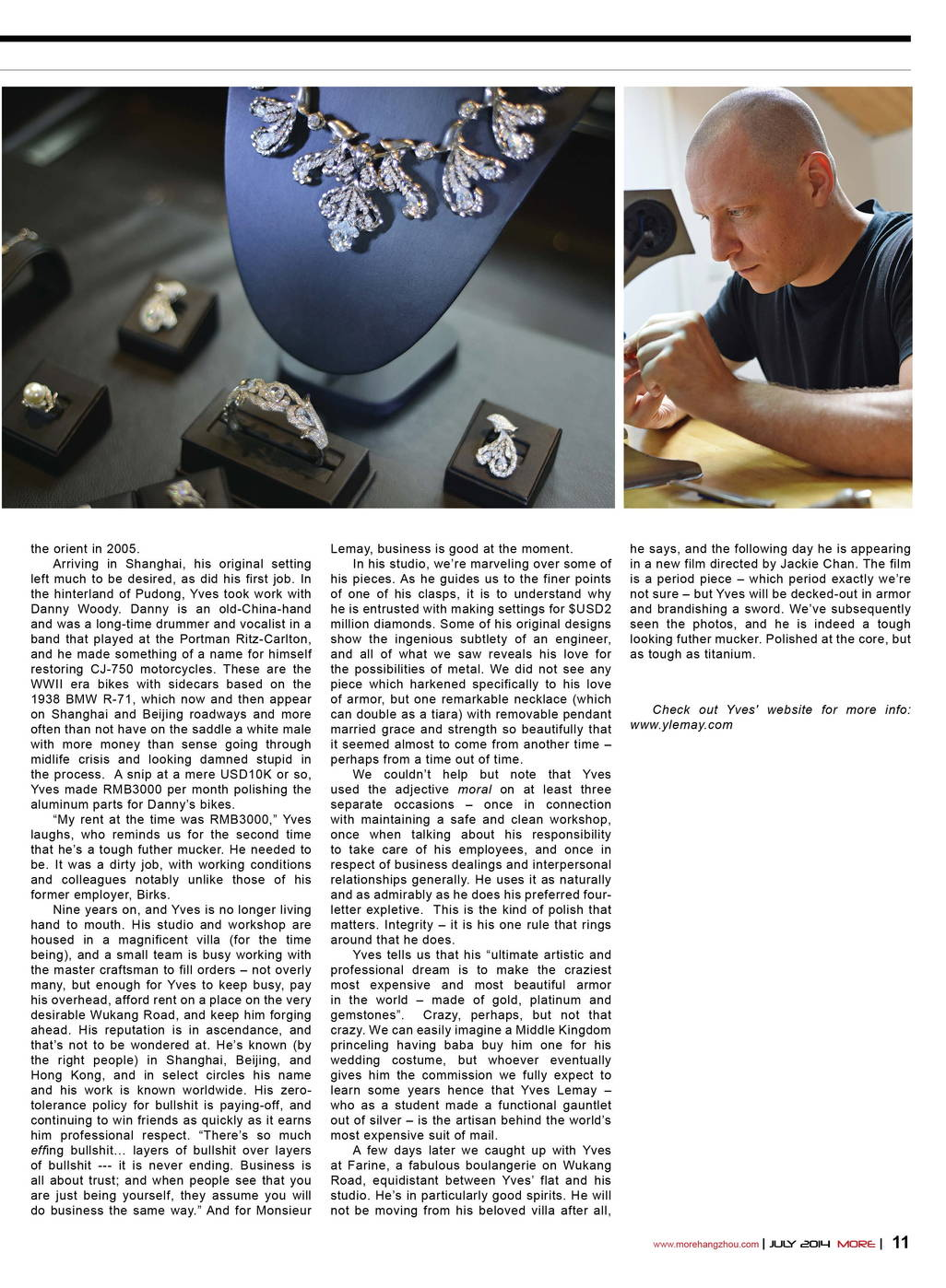 Yves Lemay Media Publication interview for hangzhouvian