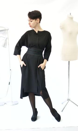 платье кимоно | черное