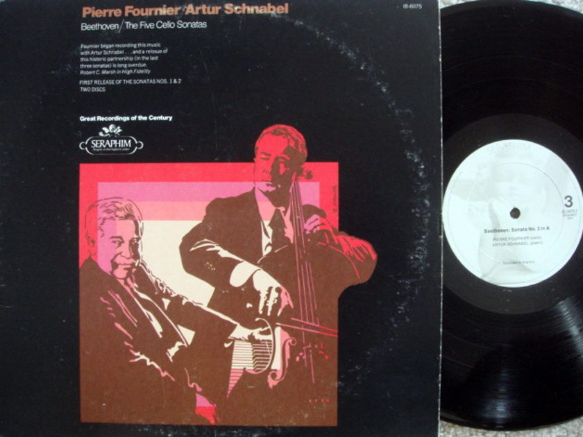 EMI Angel Seraphim / FOURNIER-SCHNABEL, - Beethoven Complete Cello Sonatas, MINT, 2 LP Set!