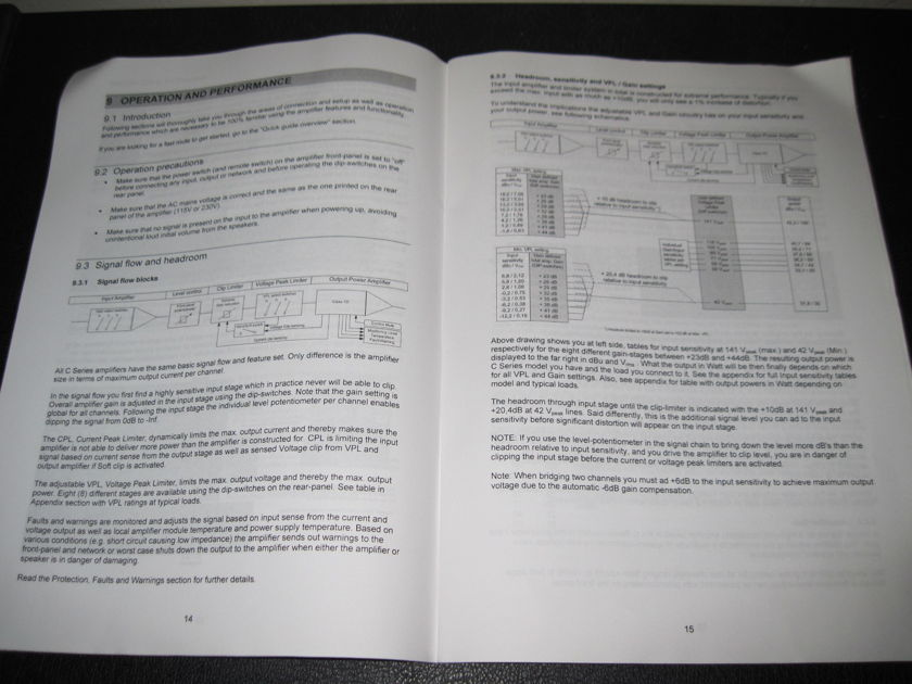 LAB.GRUPPEN C SERIES AMPLIFIER -ORIGINAL OPERATION MANUAL- - C68:4, C48:4, C28:4, C16:4