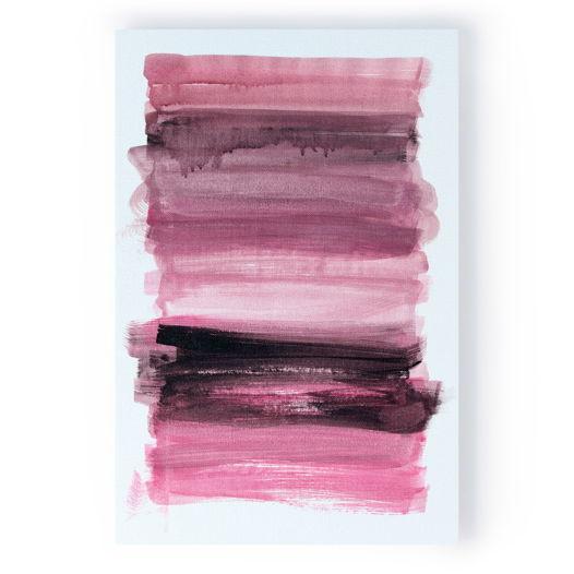 Картина Розовый с черным, 40x60 см