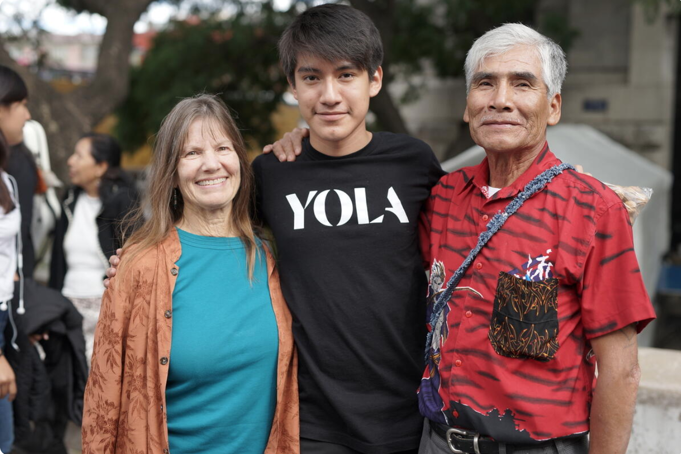 YOLA with their families after the CDMX LA Phil 2019 Tour in Mexico City