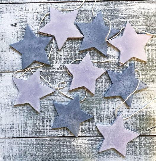 деревянная гирлянда Звезды