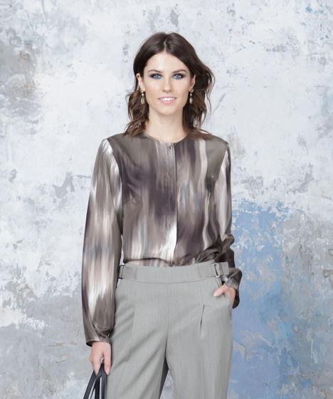 Блузка хаки Bonali 3072-0529
