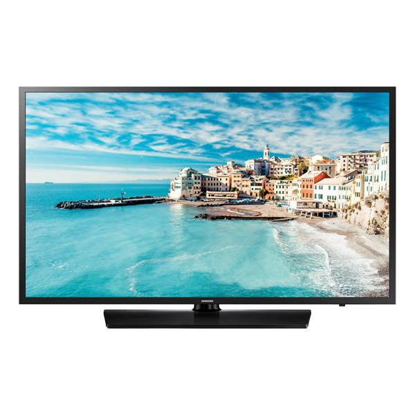 "Samsung HG32NJ470NFXZA 32"" Hotel hospitality TV 470 Series LYNK DRM Front Angle"