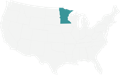 A Map highlighting Minnesota