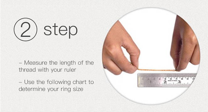 Steps to Measuring your own ring size