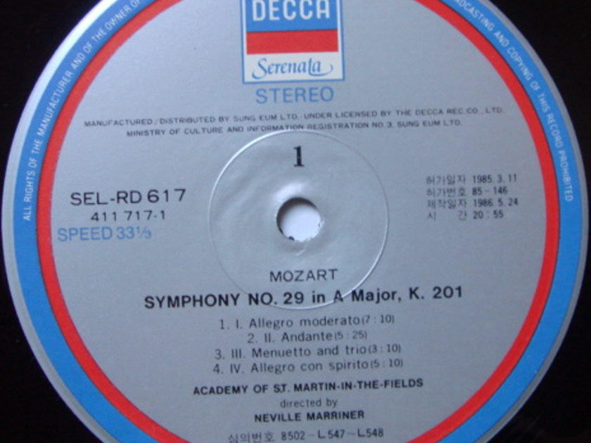 DECCA Serenata / MARRINER, - Mozart Symphonies No.25 & 29, NM!