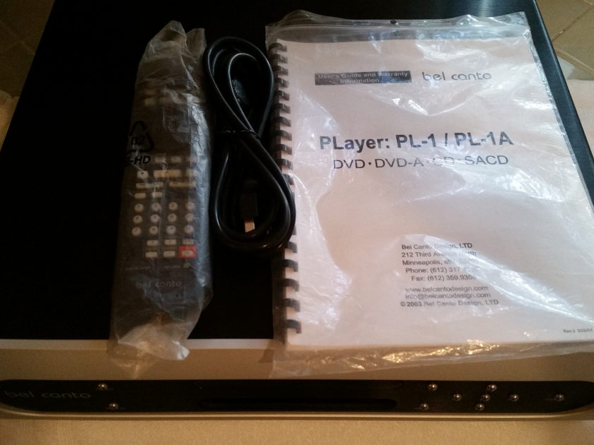 Bel Canto PL-1A Universal Disc Player  PL-1A Stereophile Class A+ Rating
