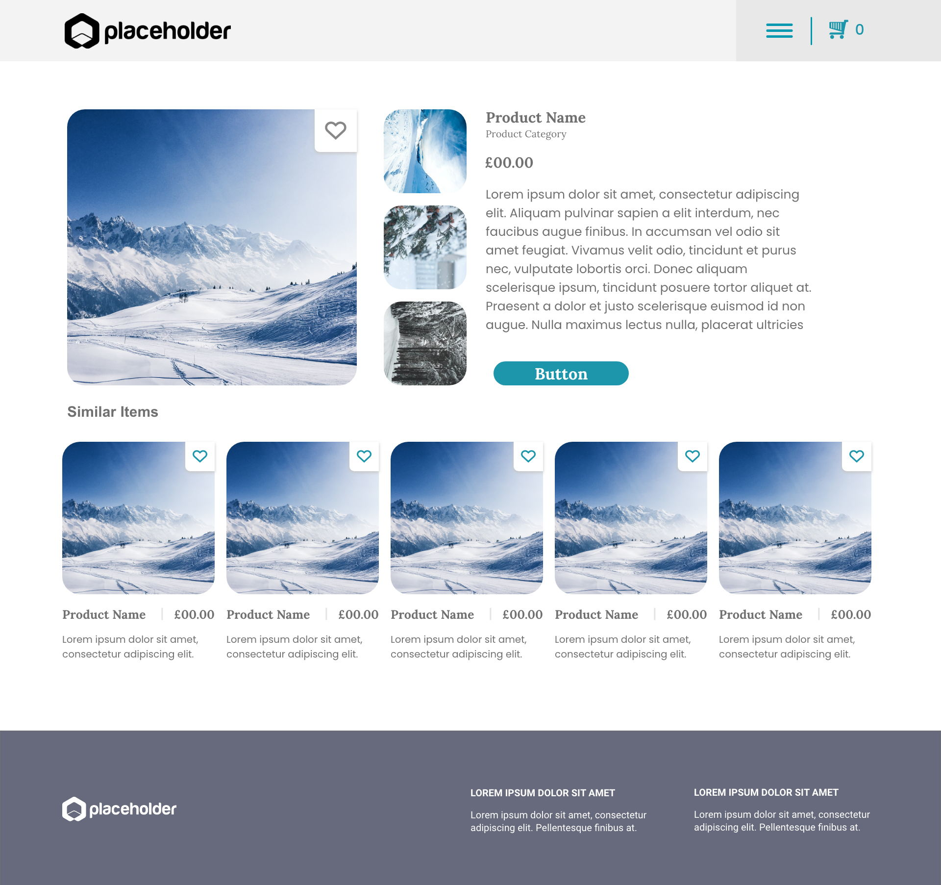 Snow template's gallery image