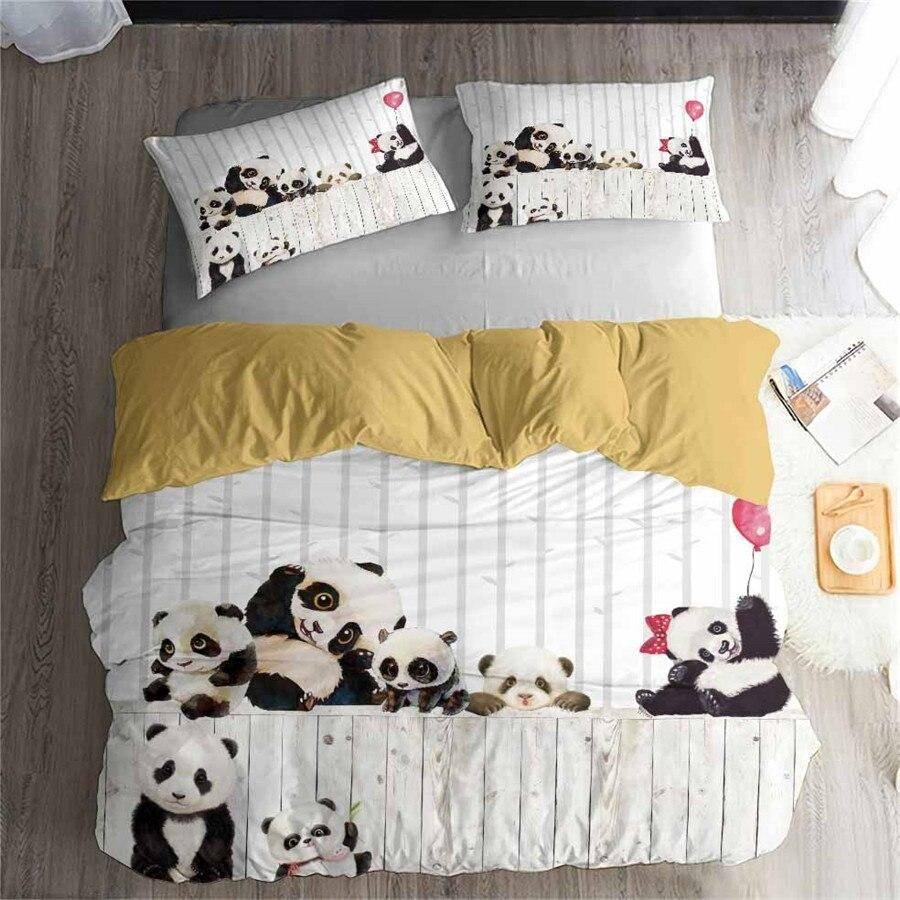 housse de couette famille de panda
