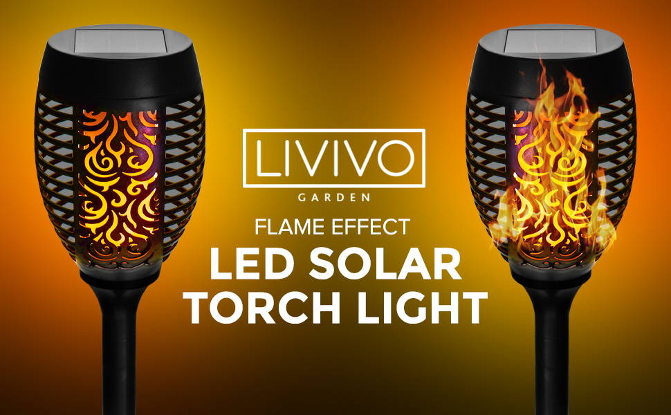 LED Solar Torch Light