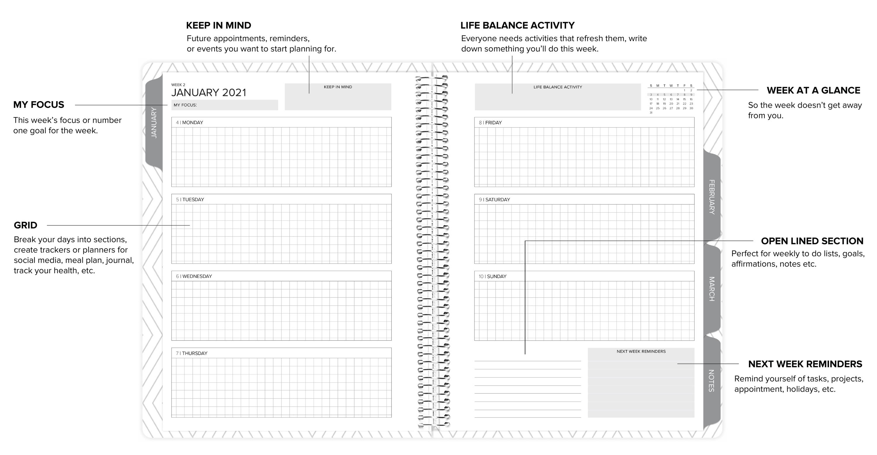 amplify planner weekly layout