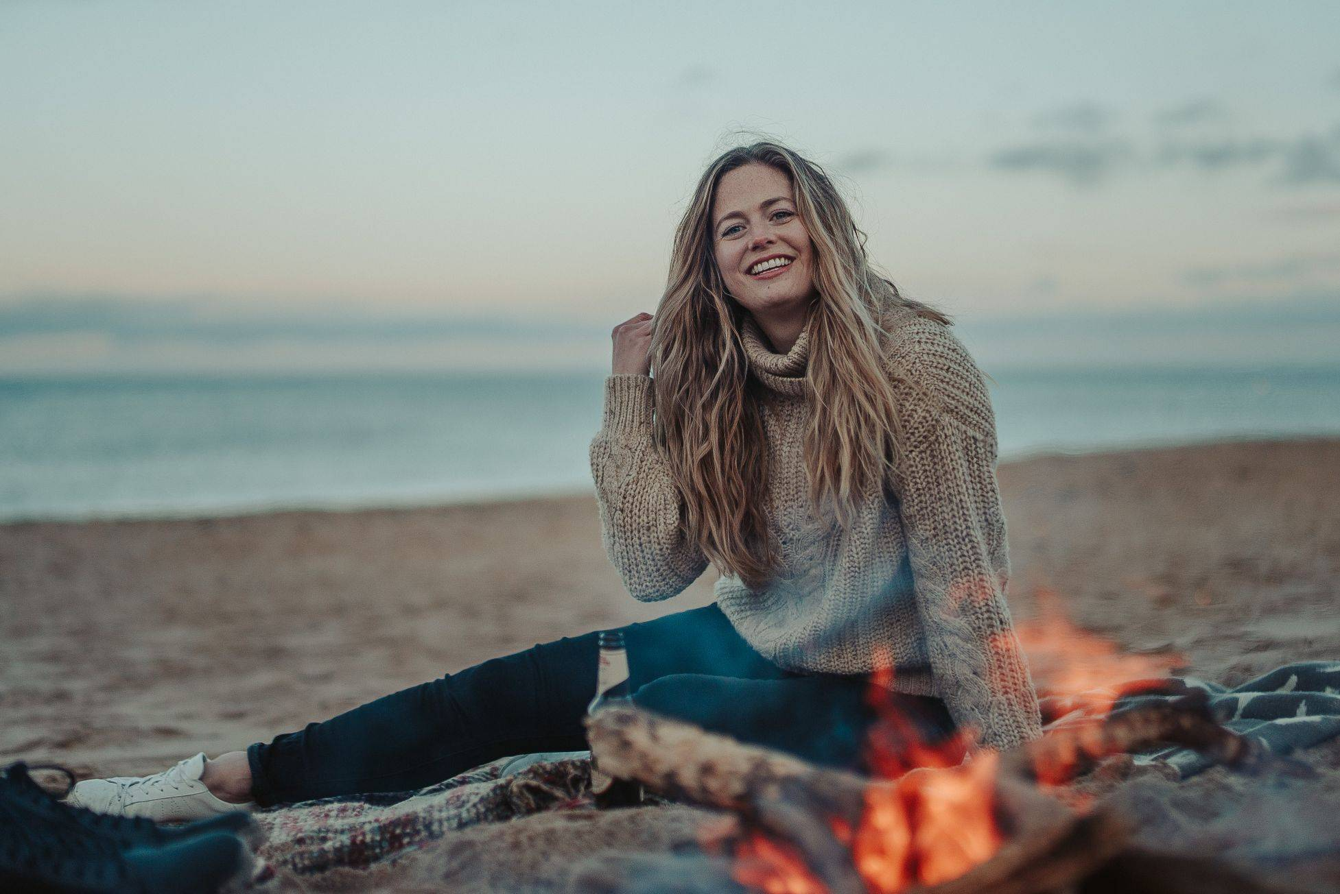 Image of Abi on beach