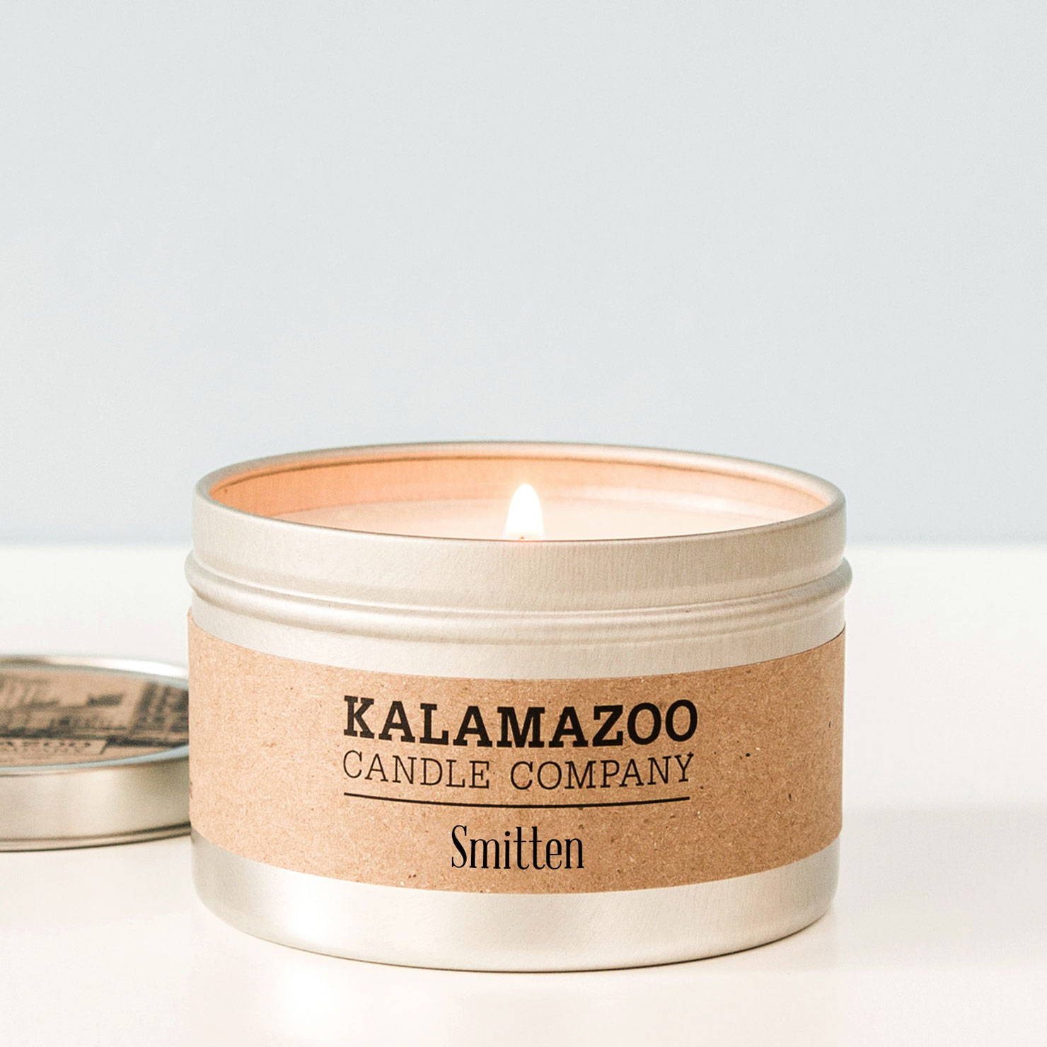 6 oz tin custom label candles