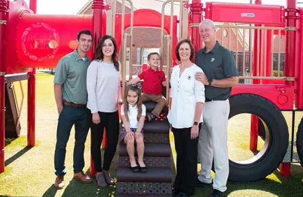 Franchise Owner of Primrose School Lori Ruppert with her family