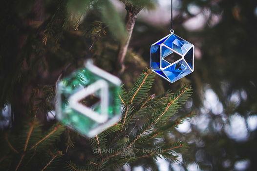 Большой Синий Кристалл (новогоднее украшение)
