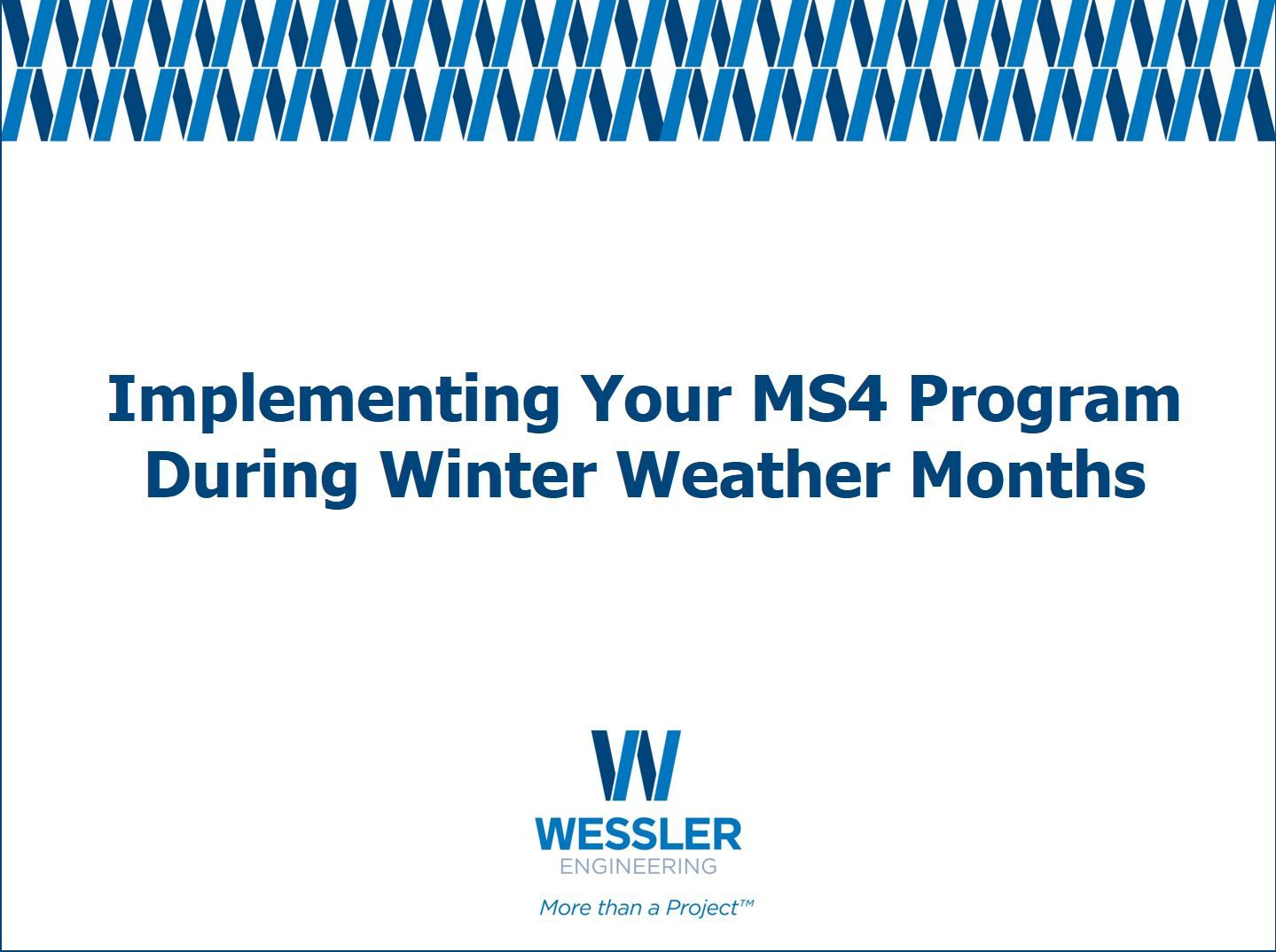 Implementing Your MS4 Program During Winter Weather Months