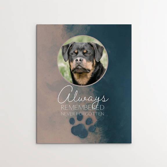 Always Remembered, Never Forgotten, Dog Memorial, Rottweiler
