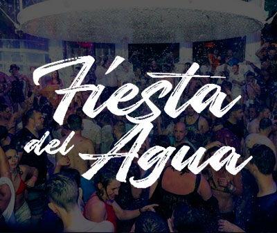 Fiesta del agua, water party  Es paradis, calendario fiestas Ibiza San Antonio