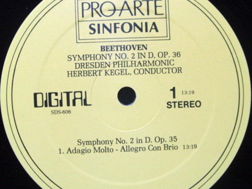 ★Audiophile★ Pro Arte / KEGEL, - Beethoven Symphony No.2, MINT!